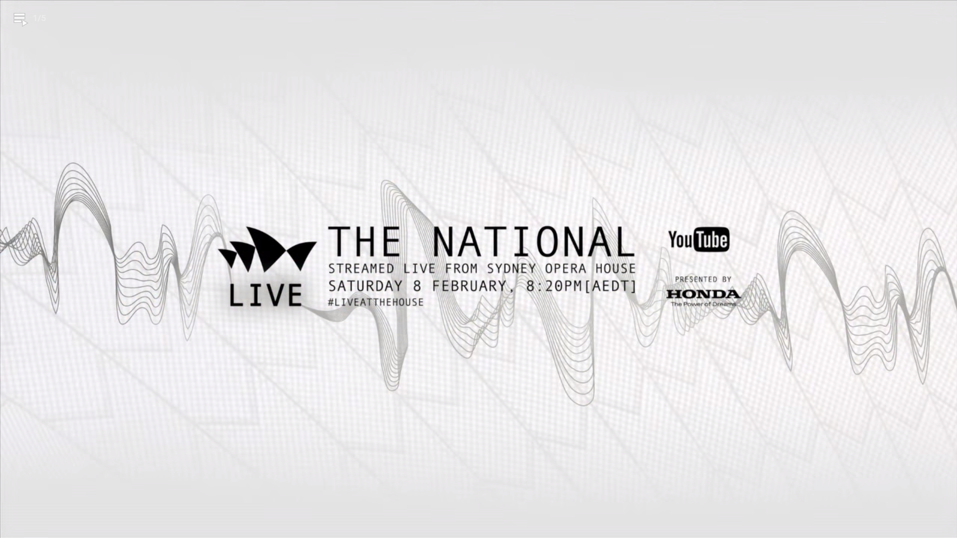 🎵 The National | Live at Sydney Opera House (2014)