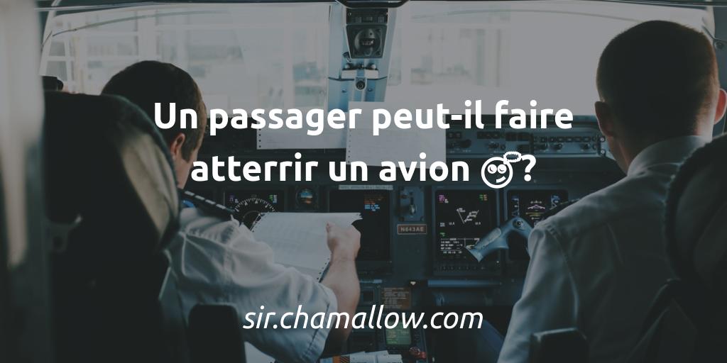 Un passager peut-il faire atterrir un avion 🤔?