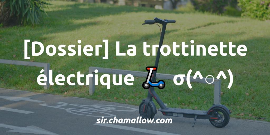 [Dossier] La trottinette électrique 🛴 σ(^○^)