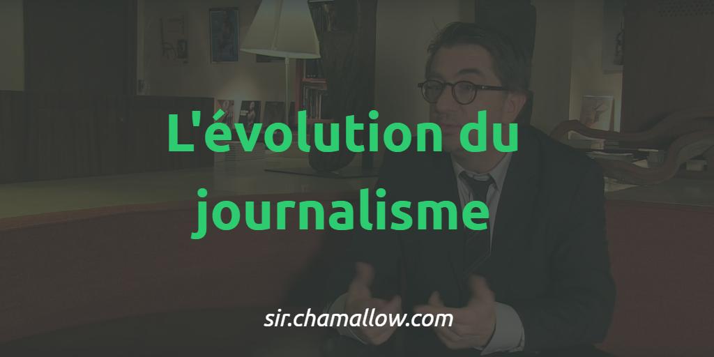 L'évolution du journalisme